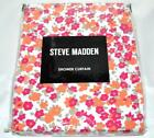 Steve Madden CARLINA Fabric Shower Curtain Hot Pink Orange White Petite Floral