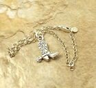 Sterling Silver Cowboy Boot Charm on a Sterling Silver Rolo Bracelet - 0427