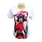 Womens Ladies Sexy Manga Japanese Gun Hero Cartoon Anime T-Shirt All Sizes New