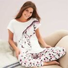 Avon Giraffe Pjs Pyjamas T Shirt Top Jogger Bottoms Ladies Cotton - ALL SIZES