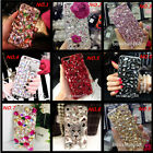 Jewelled Bling Crystal Diamonds Soft TPU Phone back Case Cover & neck strap #31