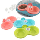 Hanging Food Water Dual Bowl For Crate Cages Coop Dog Parrot Bird Pet Fashion
