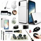 Case Cover+Bluetooth Headset +Monopod+Fish Eye Accessory For iPhone X XR XS Max