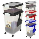 3pc Airtight Pet Food Storage Container W/ Measuring Scoop Animal Cat Dog Bird