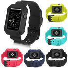 Sport Silicone Band Strap iWatch Case For Apple Watch Series 1 2 3 38mm / 42mm image