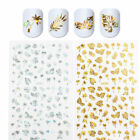 3D Nail Stickers Gold Silver Holographic Nail Art Decorazione Adesivi Unghie DIY