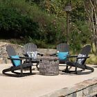 David Outdoor 5 Piece Adirondack Rocking Chair Set with Fire Pit