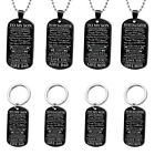 Am_ Elegant Jewelry Gift To My Daughter Dad Letter Pendant Tag Necklace Keyring