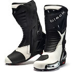 Black Panther Sports Motorcycle Boots Track Leather Racing Motorbike