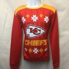 KANSAS CITY CHIEFS UGLY SWEATER SWEATSHIRT S XL FREE PRIORITY SHIPPING on eBay