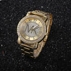 New Fashion Women Men Diamond Crystal Stainless Steel Wrist Quartz Watches