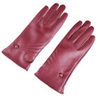 Womens Touch Screen PU Leather Gloves for Texting Driving Cashmere Lining Mitten