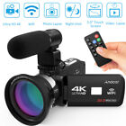 "Andoer 3.0"" 30MP 4K Ultra HD WiFi Digital Video Camera Night Vision DVR+Mic+LENS"
