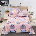 Bed Flat Sheets Cover Printed Soft Twin Full Queen King Bed Sheets image
