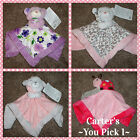 Carters Security Blanket Baby Lovey Pink Ladybug Purple Leopard Bear Puppy NWT