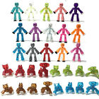 Zing Stikbot Robot Cat Dog horse rooster Solid Clear Green Blue Red Yellow White