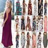 Boho Women Holiday Floral Maxi Sun Dress Evening Beach Party Summer Long Dresses