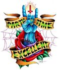 Party Time by Jeff Saunders Undead Downward Cross Tattoo Framed Wall Art Print