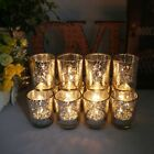 New 12/24pcs Silver/Gold Mercury Glass Tea Light Candle Holder Set Wedding Decor
