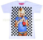 Mens Retro Punk Rock Pop Vintage Bong Manga T-Shirt White Finger Funny X-mas New