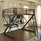 Powell Z-Bedroom Full Size Loft Bunk Bed with Desk
