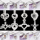 Fashion Silver Plated Hollow Locket Pendants For Necklace Jewelry Making