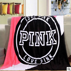 VS Love Pink Plush Throw Coral Flannel Blankets Velvet Winter blanket