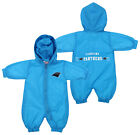Carolina Panthers NFL Baby Boys Newborn Infant Hooded Wind Coveralls, Blue