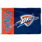 Oklahoma City Thunder Wordmark Flag 3Ft X 5Ft Polyester Nba Banner 90*150Cm on eBay