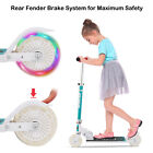 3 Wheel Kick Scooter. For Kids 2-12 Ages with LED Rear Lights Wheels Boy & Girl