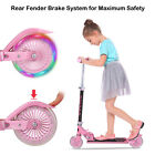 3 Wheel Kick Scooter. For Kids 2-12 Ages with LED Rear Lights Wheels Boy