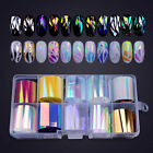 10Pcs Holographic Nail Foils Kit Transparent Starry Sky Nail Art Stickers Decals <br/> 10 Rolls/Box Nail Foils, Holographic, Sold Out 1100+ ~~