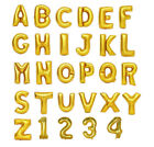 """16""""  40"""" Gold Helium Foil Balloons Letters and Numbers"""