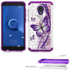 Phone Case For Tracfone Alcatel TCL LX Straight Talk Dual-Layered Crystal Cover