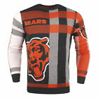 Forever Collectibles NFL Men's Chicago Bears Plaid Crew Neck Sweater on eBay