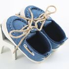 Newborn to 12M Baby Boys Girls Lace-up Soft Sole Crib Shoes Prewalker Sneakers