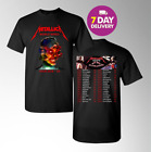 New Metallica T-Shirt HardWired World Tour 2018-2019 Black 2 Side.S-3XL image