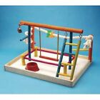 Penn Plax Wood Bird Playpen
