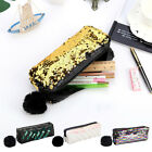 Womens Makeup Cosmetic Cases Glitter Sequin Zipper Bags Hairball Storage Bags
