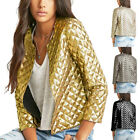 US Womens Blazer Short Jacket Casual Without Zipper Coat Sequined Party Outwears
