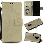 For Samsung Galaxy S8 S9 Plus Case Totem Pattern Leather Card Holder Folio Cover
