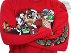 Harley-Davidson Looney Tunes Mens Taz Claus Red Long Sleeve Holiday T-Shirt image