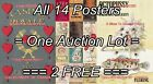 """JAMES BOND 007 #1 - #14 First Ed. = ALL 14 POSTERS Not Book 8 SIZES 18"""" - 3 Feet $394.56 CAD on eBay"""