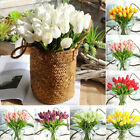 1-20 Heads Tulips Artificial Flowers Fake Bouquet Buch Home Party Decor