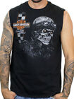 Harley-Davidson Mens Café Skull Black Sleeveless Muscle Shirt B&S $14.99 USD on eBay