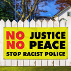 Vinyl Banner Sign No Justice No Peace #2 Lifestyle Marketing Advertising yellow $161.97 USD on eBay