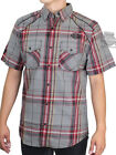 Harley-Davidson Mens Plaid Accent w/ B&S Short Sleeve Button Shirt 96193-18VM $39.99 USD on eBay