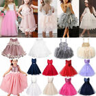 Flower Girls Long Dresses Kids Baby Princess Party Wedding Bridesmaid Ball Gown