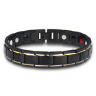 Therapeutic Energy Healing Bracelet Stainless Steel Magnetic Therapy Bracelet T1