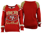Forever Collectibles NFL Women's San Francisco 49ers Glitter Scoop Neck Sweater $34.99 USD on eBay